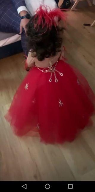 Vestido de boda gitana para niña