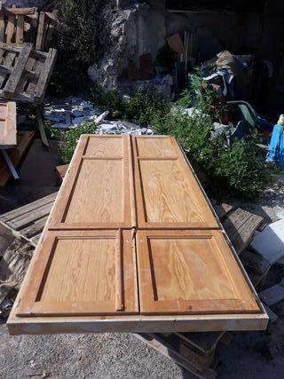 4 puertas y marcode madera para armario empotrado