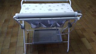 bañera cambiador bebé plegable