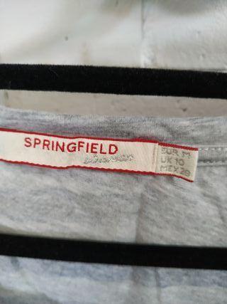 2 camisetas Springfield mujer