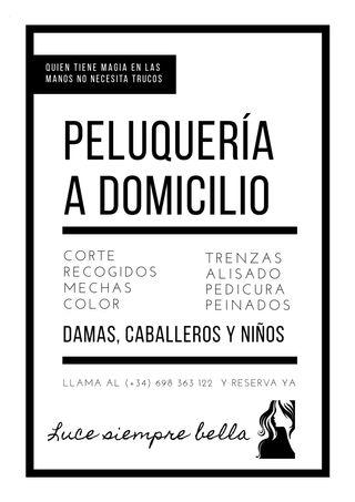 PELUQUERA A DOMICILIO MAS DE 20 AÑOS.