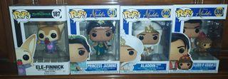 Funko Pop Jasmine, Aladdin y Ele Finnik