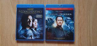 El Código Da Vinci y Angeles Y Demomios en Blu Ray