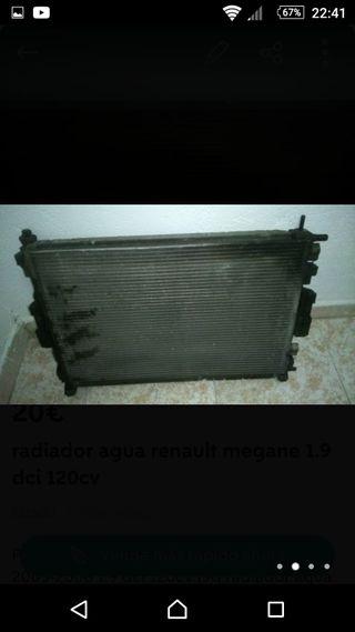 Radiador agua renault 1.9 dci 120cv F9Q