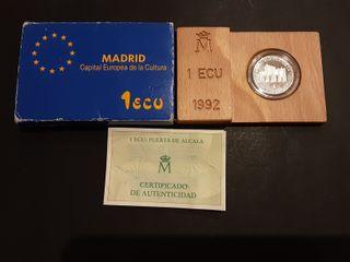 Estuche Moneda 1 Ecu Plata 1992 España