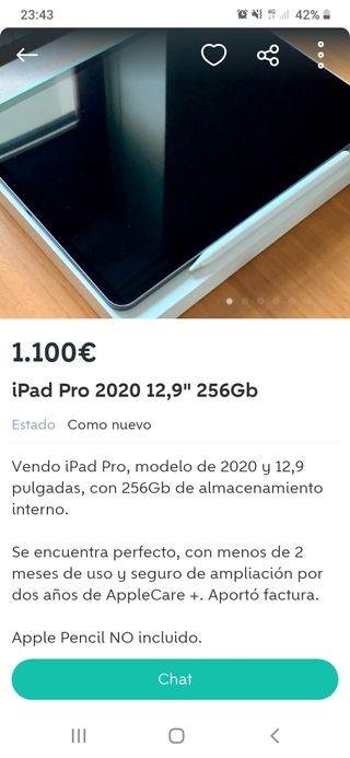 "iPad Pro 2020 12,9"""" 256 Gb"