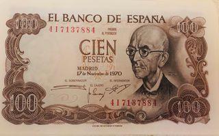 Billetes 100 pesetas Manuel de Falla