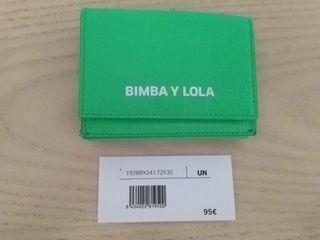 Billetero de neón acharolado de Bimba y Lola