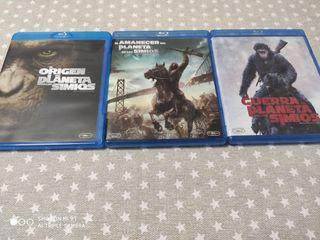 trilogía del planeta de los simios Blu-ray