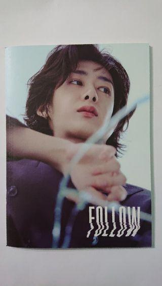 Lyric book Hyungwon MONSTA X FOLLOW FIND YOU