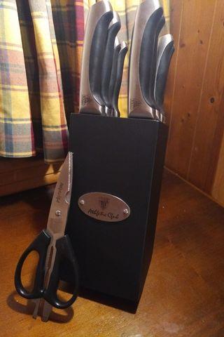 Set 8 cuchillos profesionales cocina Athletic Club