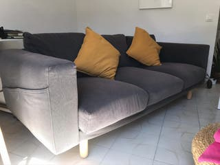 Sofa 3 plazas color gris claro