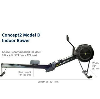 Concept2 Modelo D Remadora de interior negra con P
