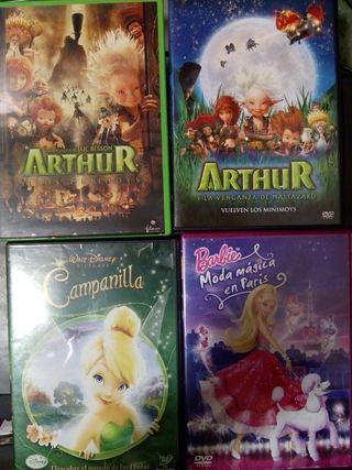 lote películas DVD infantiles