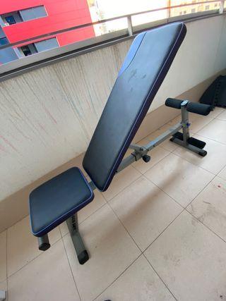 Banco de musculación plegable/inclinable Domyos
