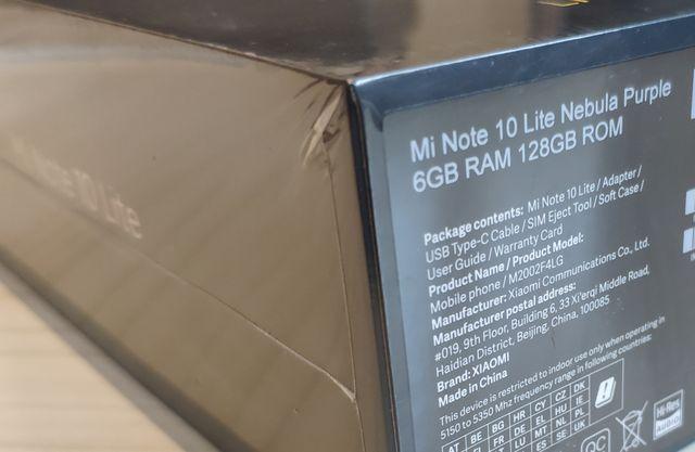 Móvil Mi Note 10 Lite 6/128 Nuevo Precintado