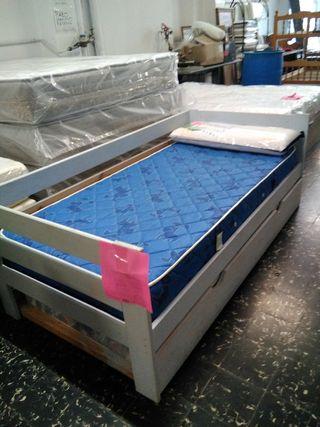segunda mano. cama nido 90*190
