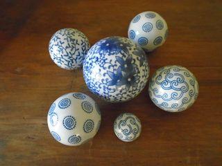 Bolas decorativas de porcelana
