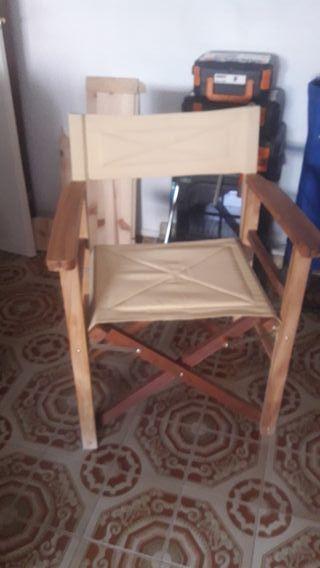 silla rustica plegable