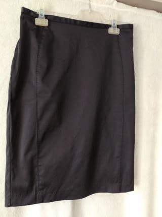 Falda negra tubo Mango talla 40