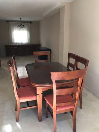 Mesa extensible madera 6 sillas