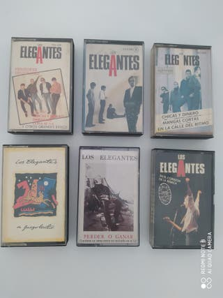 6 LOS ELEGANTES Cintas Cassettes Discografía