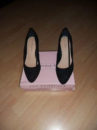 zapatos de tacón de 8 centímetros
