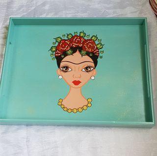 bandeja de madera Frida Kahlo