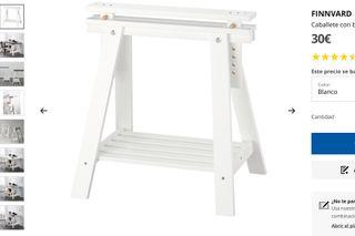 caballete mesa IKEA blanco FINNVARD