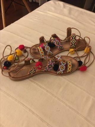 Sandalias plana mujer n41,marca GiosEppo