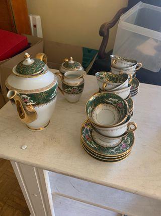 Juego café porcelana antigua