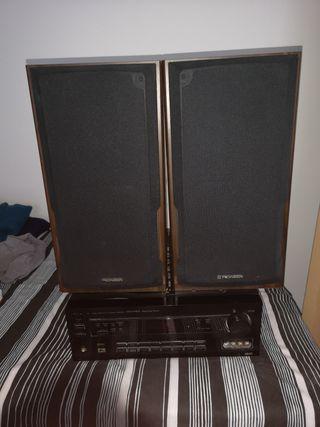 amplificador con altavoces pionner
