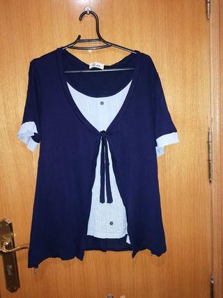 camiseta azul marinera