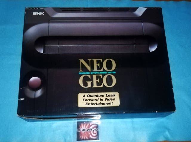NEO GEO AES BOXED SERIAL 199374 NEOGEO JAPAN VERSI