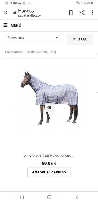 manta antimoscas stars caballo