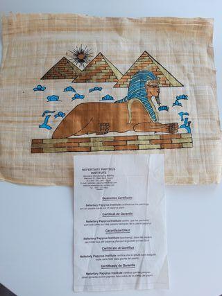 Auténtico papiro egipcio certificado