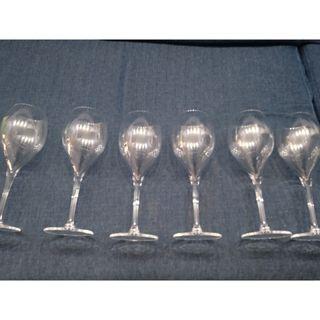 juego 6 copas de cristal para vino