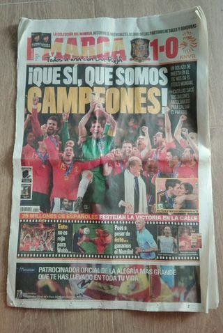periódico deportivo selección española