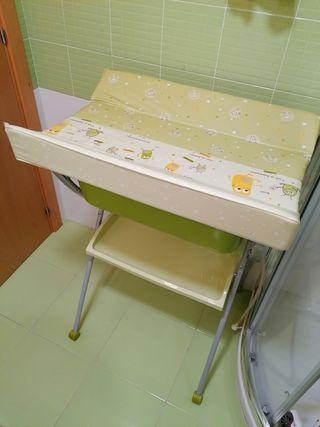 Cambiador bañera + adaptador bebe