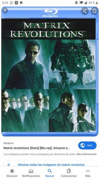 Blu-ray Matrix Revolution y Matrix Reloaded