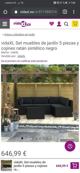 conjunto de muebles de Jardin