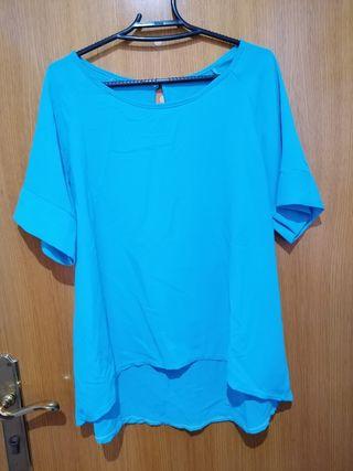 camisa de chica azul