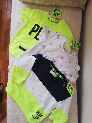 Pack camisetas y sudadera t. 6-12m