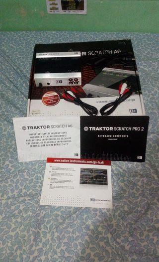 traktor scratch pro 2 - audio 6 - con licencia!!!