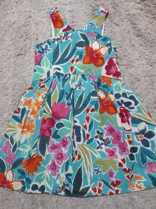 vestido flores zara talla 8