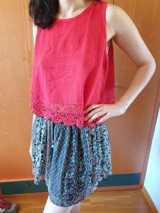 Conjunto falda y top étnico