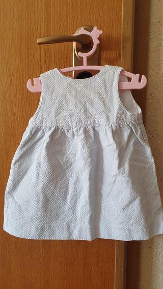 vestido niña , azul clarito, Talla 12-18 meses