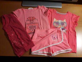 conjunto faldapantalon y 3 camisetas