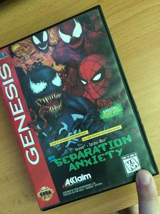 Venom spiderman separation anxiety megadrive