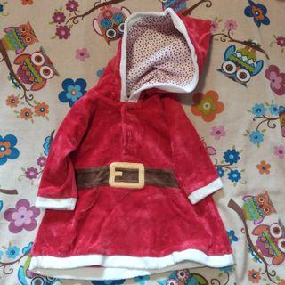 vestido mamá Noel 6-9 meses